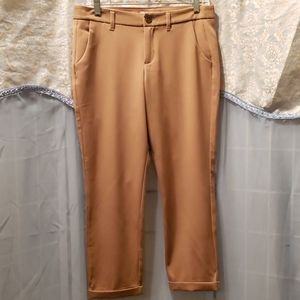 OLD NAVY TAN CROP CUFFED PANTS SZ 4